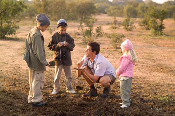 Specialised walking safaris for kids in Manyeleti Private Game Reserve.