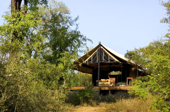 Honeyguide Mantobeni Camp offers tented accommodation.