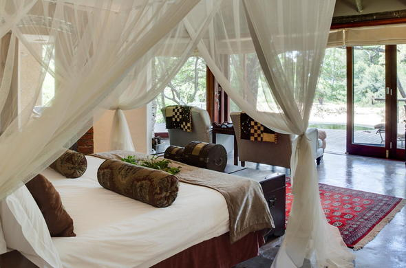 Tintswalo Manor House offers cosy accommodation with scenic views.