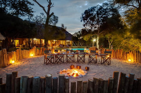Traditional boma dinners at Tintswalo Manor House.